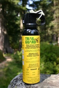 Bear deterrent spray