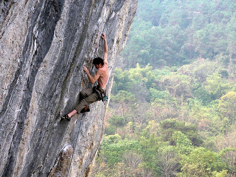 Knee Drop Climbing
