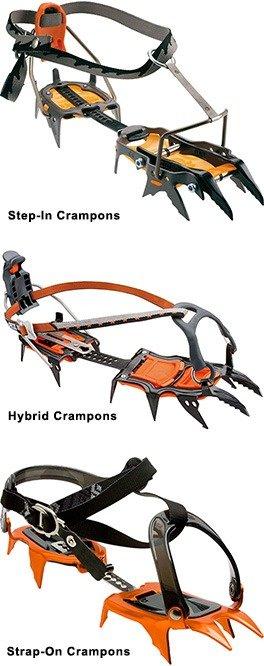 Crampons types