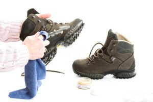 Treating hiking boots