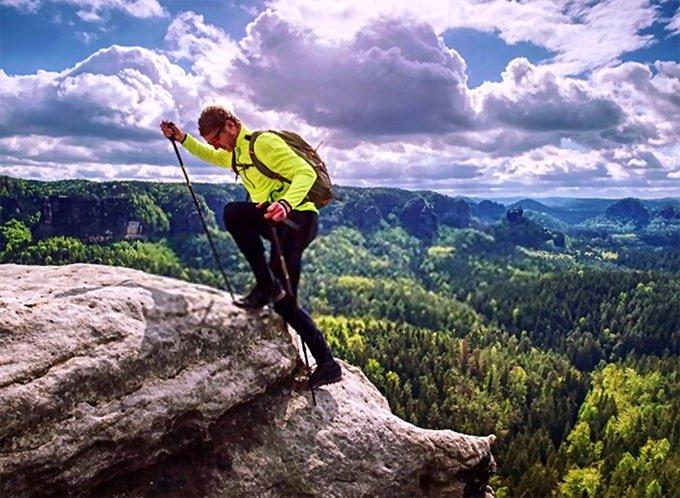 Using hiking poles
