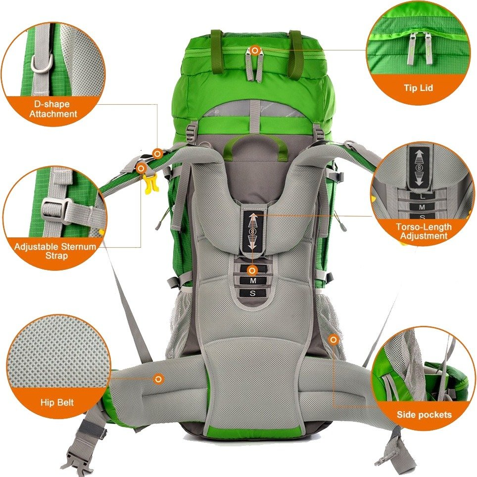 Hiking backpack adjustments