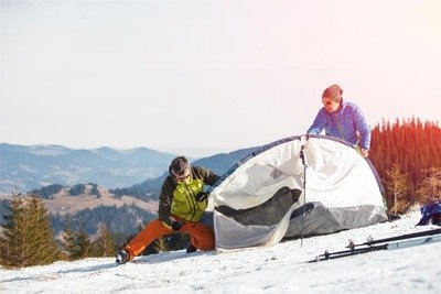 Difficulty in mounting a tent