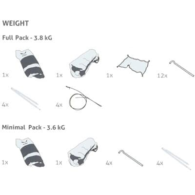 Backpacking tent weight