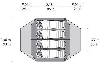 Hiking tent capacity chart