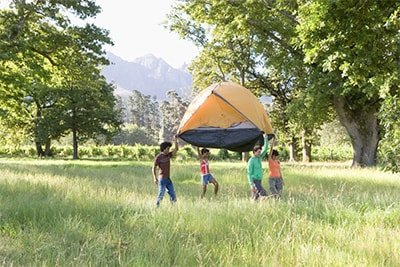 Self-supported tent