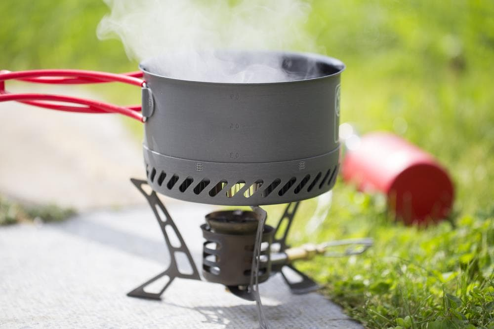 backpacking boiling water