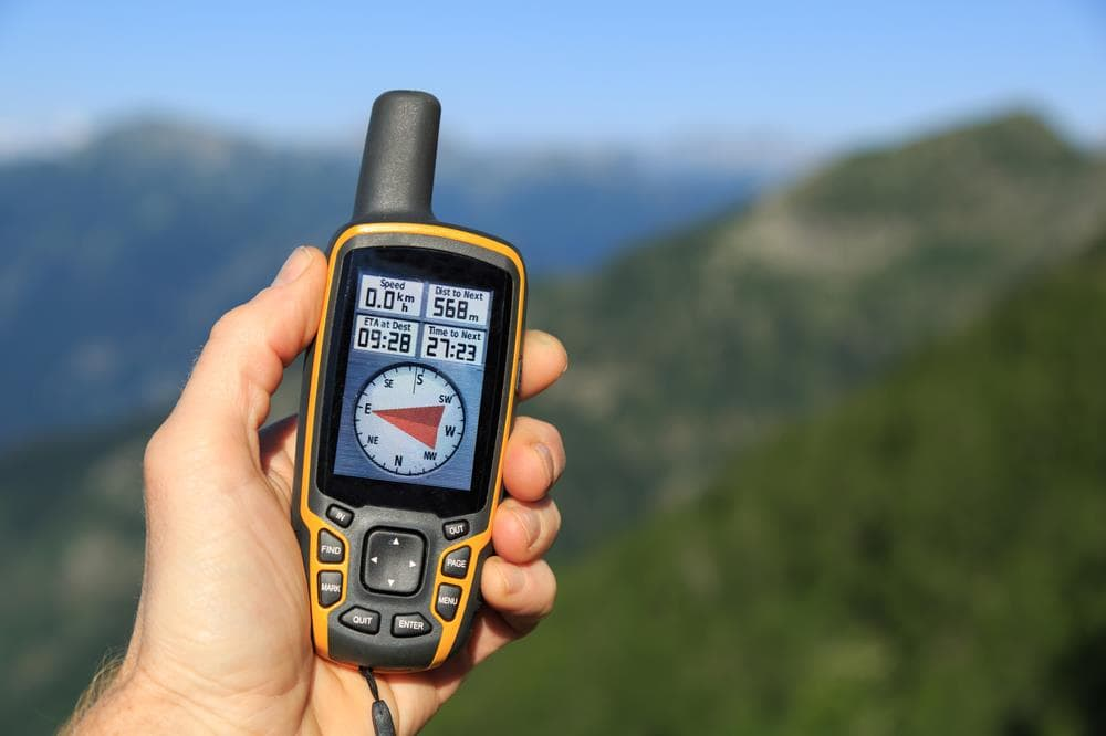 Hiking gps with compass