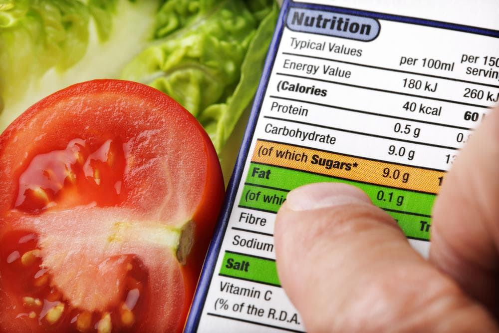 Learn the caloric equivalent by weight of each food