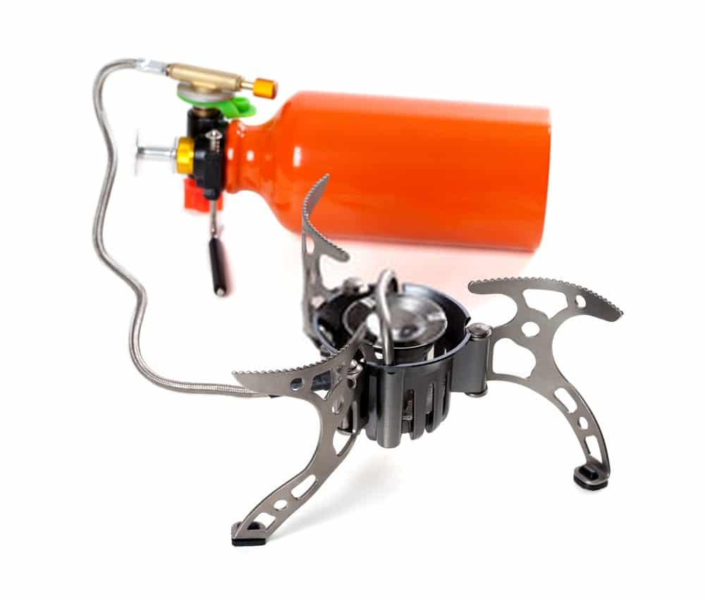 Multi-fuel backpacking stove