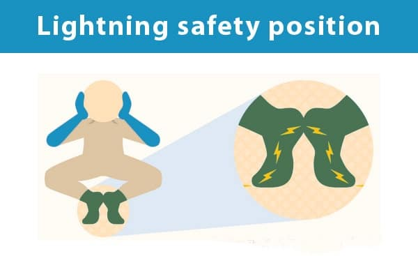 lightning safety position