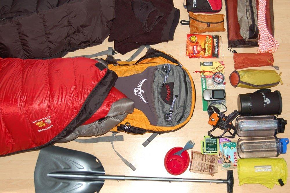 Light hiking gear
