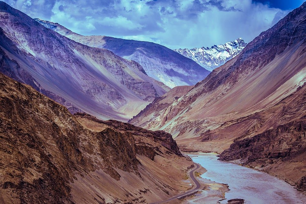 Kashmir Ladakh River Mountains Leh