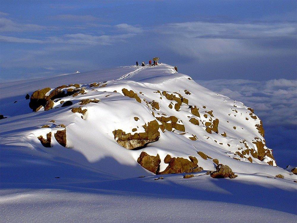 Uhuru Peak on the volcano Kibo