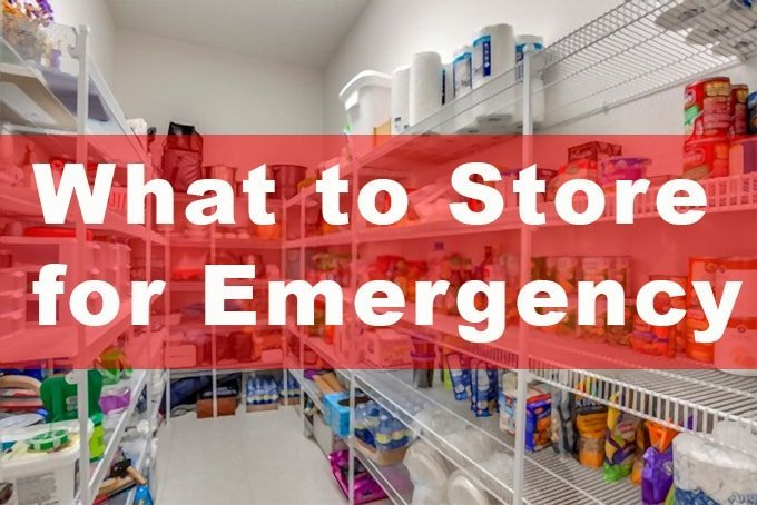 what to store for emergency