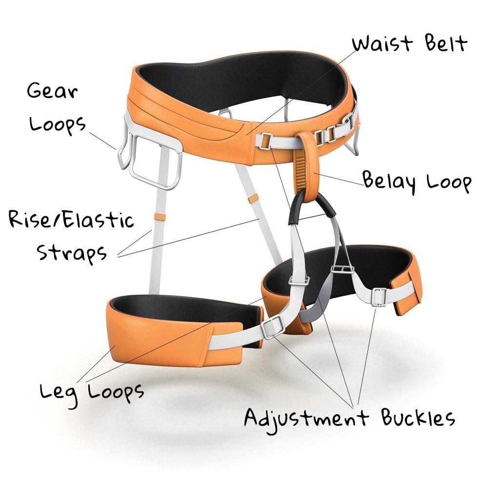 Anatomy of a climbing harness