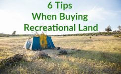 6 Tips When Buying Recreational Land